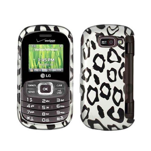 Hartschale für LG VN530 Octane 2D Leopardenmuster Schwarz Weiß glänzend (Handy Case Lg Octane)