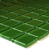 Glasmosaik Mosaik Fliesen Dunkelgrün Uni 23x23x4mm