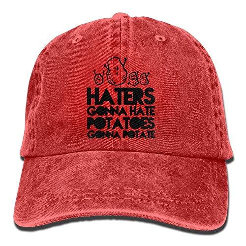 Osmykqe Hasser Werden Hasse Kartoffeln Werden Potate Cowboy Sports Hut hintere Kappe verstellbare Kappe XC8349 - Hintere Vitrine