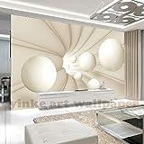 3D Stereo Space Abstract White Sphere Wandbild Büro Wohnzimmer TV Sofa Hintergrund Tapeten
