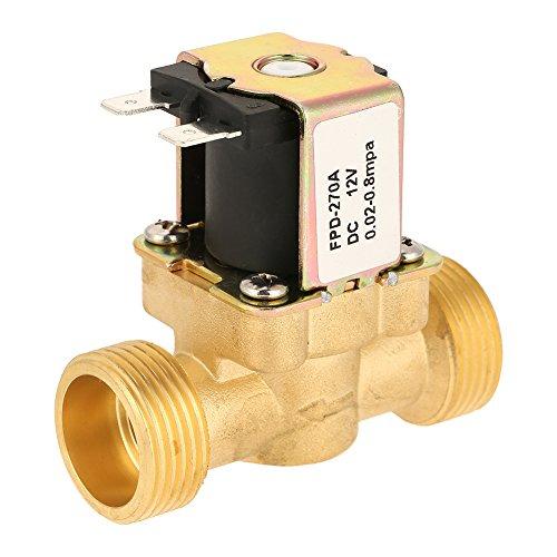 Magnetventil, normal geschlossenes elektrisches Magnetventil aus Messing zur Verwendung mit Rohrleitungen in Wasser- und Dieselanwendungen -