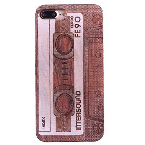 Hülle für iPhone 7 plus , Schutzhülle Für iPhone 7 Plus Artistic Carving Muster Rosewood + PC Bordure Schutzmaßnahmen zurück Fall Shell ,hülle für iPhone 7 plus , case for iphone 7 plus ( SKU : Ip7p14 Ip7p1451v