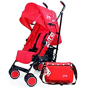 Zeta Citi Stroller Buggy Pushchair - Red Complete with Bag   9