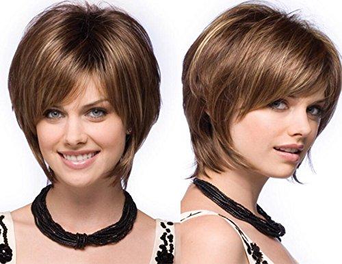 courte perruque de cheveux de fil européen et américain à haute température de mode de dame perruque rose courte pelucheux cheveux bouclés net