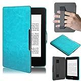 Amlaiworld per Kindle Paperwhite, Premio Copertura astuta di Cuoio Ultra Sottile per Il Nuovo Amazon Kindle Paperwhite 5 (Rosa Caldo)