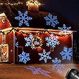 LED Projektionslampe,OxyLED Partei Projektions Lampe,wasserdichte Farbprojektor Licht mit 12 Dias für Party im Freien/Innen Weihnachten/Halloween/Girls'Night,Feiertags Dekorationen[Energieklasse A++]