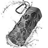 Bluetooth Lautsprecher Wasserdicht Stereo Hi-Fi Tragbarer Lautsprecher, 20 Watt Outdoor Lautsprecher Box mit HandsFree Calling, Eingebauten Mikrofon, 5200mAh Power Banks, 24 Stunden Spielzeit, Dustproof, Shockproof