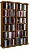 VCM 50442 Regal Schrank DVD CD Rack Medienregal Medienschrank Aufbewahrung Holzregal Standregal Möbel in 6 Farben