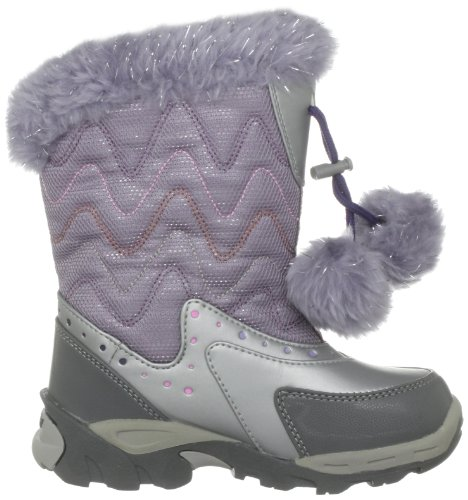 Hi-Tec Heavenly Sport 200, Mädchen Sportschuhe - Wintersport Silber (Silver/Purple)