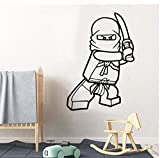 Ninjago Wandaufkleber Für Kinderzimmer Aufkleber Wandbild Ninjago Aufkleber Für Kinderzimmer Kunst Tapete Poster 57cmx82cm