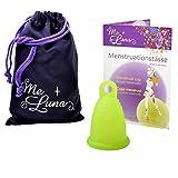 Me Luna Coupe menstruelle Classic, bague, vert, Taille M