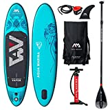 Aqua Marina Vapor SUP Stand Up Paddle Board with Paddle, Leash, Magic Back