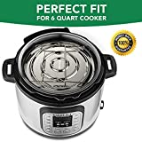 ekovana Stackable Stainless Steel Pressure Cooker Insert Pans - Instant Pot Accessories 6 Litre