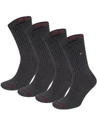 Tommy hilfiger lot de 4 chaussettes de sport avec dessous en tissu éponge pour homme pack expédition très rapide