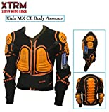 XTRM EDGE MOTORBIKE KIDS BODY ARMOUR Motorcycle Junior Child Quad ATV MX BMX Sports CE Approve Full Body Deflector ORANGE (Orange,M (8 years))