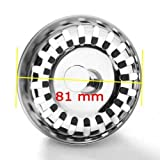 JZK® colador fregadero acero inoxidable cocina lavabo filtrar colador tapón de descarga con diámetro 81 mm