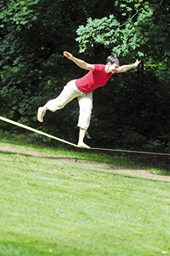 HUDORA Slackline-Set, 15 m lang, 3,8cm breit + Baumschutz - 6