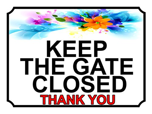 SHAWPRINT halten Sie das Tor geschlossen Thank You, Motiv: mm Metall-Schild, 200x 287h1l, 25,4cm x 20,3cm (Halten Tor Geschlossen Sie)