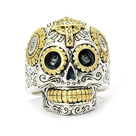 ShankMing Men's Stainless Steel Skull Gothic Biker Sugar Ring for Boyfriend & Father & Valentine on Halloween & Christmas Thanksgiving Day