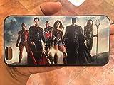 Justice League iPhone 7Peau de Protection en Caoutchouc de Silicone TPU Coque-Wonder Woman Diana Superman Batman Aquaman Cyborg Flash DC Comics.