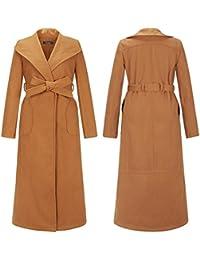 GSKBNT Le style long nouveau automne et hiver femme en laine manteau m¨¦dium d¨¦partement de ceinture une rang¨¦e de boutons couleur unie de manteau coupe-vent