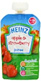 Heinz Apple and Strawberry Fruit Pouch 4-36 Months 100 g (Pack of 6)