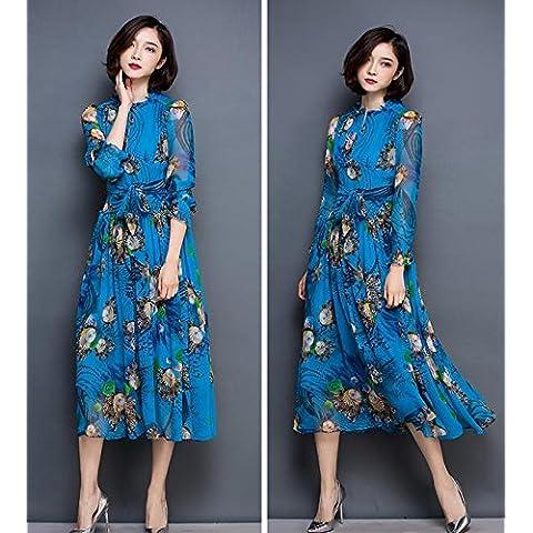 &zhou Cinese stile nazionale lino/cotone/manuale/sciolto/abito gonna/vestito/moda , red ,