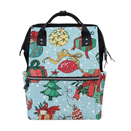 Weihnachtsbaum-Geschenk-Boxen Schulrucksack große Kapazität Mumien-Taschen Laptop Handtasche Casual Reiserucksack Schulranzen für Damen Herren Erwachsene Teenager Kinder -