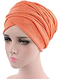 0e16f332416 Ruimada Muslim Head Cap Head Scarf Women Muslim Stretch Turban Slouchy  Cancer Chemo Hat Head Scarf Wrap Cap for Chemo Alopecia Hair…
