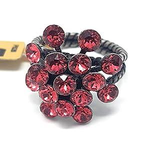 KONPLOTT Magic Fireball Damen-Ring, Ringgröße verstellbar, Glas indian-pink -5450527767323