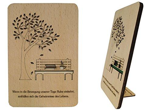 'Lin tarjetas madera