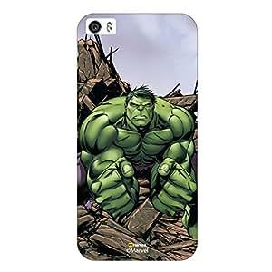 Hamee Original Marvel Character Licensed Designer Cover Slim Fit Plastic Hard Back Case for iPhone 5 / 5s / 5SE / SE ( Hulk Illustration2 )