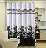 Duschvorhänge,Bad Trennwand Vorhang Wasserdicht Anti Schimmel Verdicken Sie Polyester Umweltschutz Keine Gerüche-R 180x190cm(71x75inch)