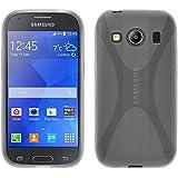 Funda de silicona para Samsung Galaxy Ace 4 - X-Style transparente - Cover PhoneNatic Cubierta + protector de pantalla