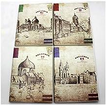 JxucTo Creativo Patrón de paisaje Diario personal Cuadernos y revistas Libro de papel para Office Home School (Patrón aleatorio)