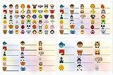 Kigima 114 Aufkleber Sticker Namens-Etiketten rechteckig verschiedene Größen und Tiermotive