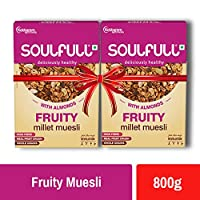 Soulfull Millet Muesli Fruit & Nut Super Saver Pack- Contains Almonds & Real Fruits, 800g