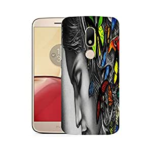 Snoogg Butterfly girl Designer Protective Back Case Cover For Motorola Moto M