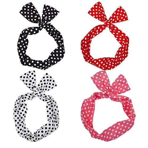 WinCret Stirnband Damen Mädchen | Frühling Kopfband Haarband Elastische Blume Gedruckt Stirnbänder