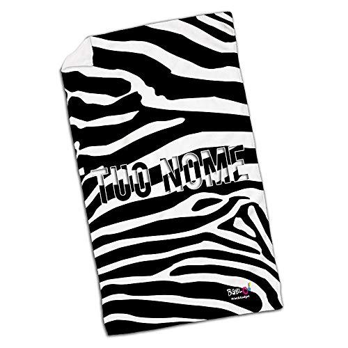 Babloo telo mare da spiaggia zebrato personalizzato con nome 80x180