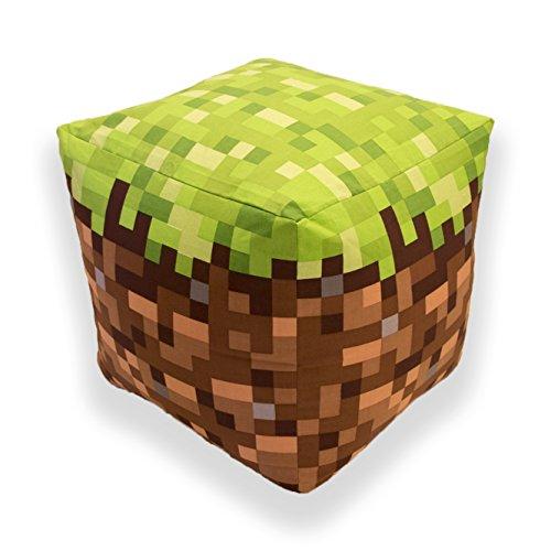 Minecraft Bj Cube Shaped Kissen Kissen Sitzsack, Baumwolle, Grün, 40x 40x 40cm