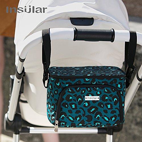 CaTop in 1Kinderwagen Organizer Verstellbare Schulter Tasche für Stars tragbar Baby Wickeltasche Buggy Reisen Tragetasche grün