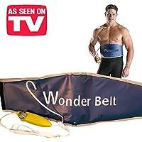 Wonder Belt–L 'esclusiva Cinturón reductora eléctrica con función Sauna–Ideal para abdominales, estómago, brazos y piernas. Banda Pro Snellente con sistema calefactora abdominal para moldear