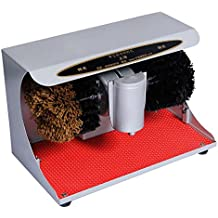 QFFL Pulidor de zapatos Automático sensor Vertical shoeshine Doméstico dual motor electric shoe brush machine 3 colores disponibles 37 * 25 * 20 cm Cepillo de limpieza ( Color : A )