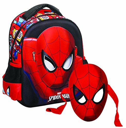GIM Spiderman Kinder-Rucksack, 31 cm, Rot (Rouge)