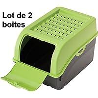 2 x Scatola di Conservazione per patate, verdura, frutta, scatola portaoggetti in plastica, Volume di 7,7 litri (Set di 2 scatole)