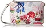 Ted Baker Tressa Encyclopedia Pale Grey Floral Leather Shoulder / Clutch Bag RRP £119.00