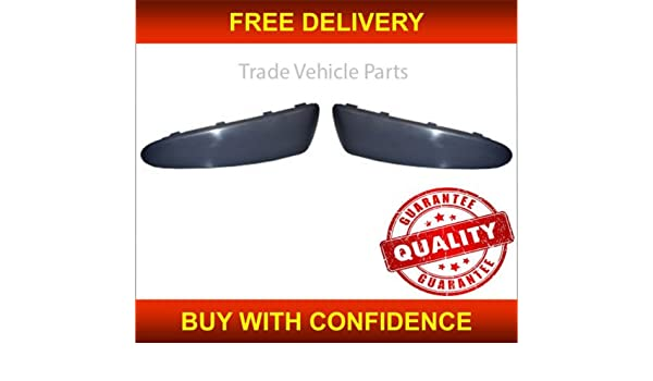 Left /& Right Compatible With Aygo 2005-2009 Front Bumper Moulding Set Trade Vehicle Parts TY4018