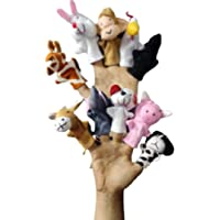 Ritu Shubhman's Creation Finger Puppets | Set of 10 pcs | Glove Little Kingdom Finger Puppets Royal | 10 Animal toys…