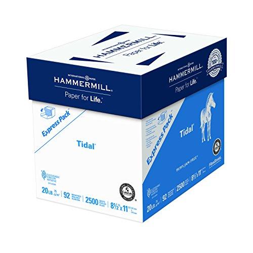Hammermill Papier, Tidal Copy-Papier, 8,5 x 11 Papier, Briefgröße, 9 kg, 92 hell, Express Pack / 2.500 Blatt ohne Ries WraP (163120C) säurefreies Papier (Hammermill-copy Papier)